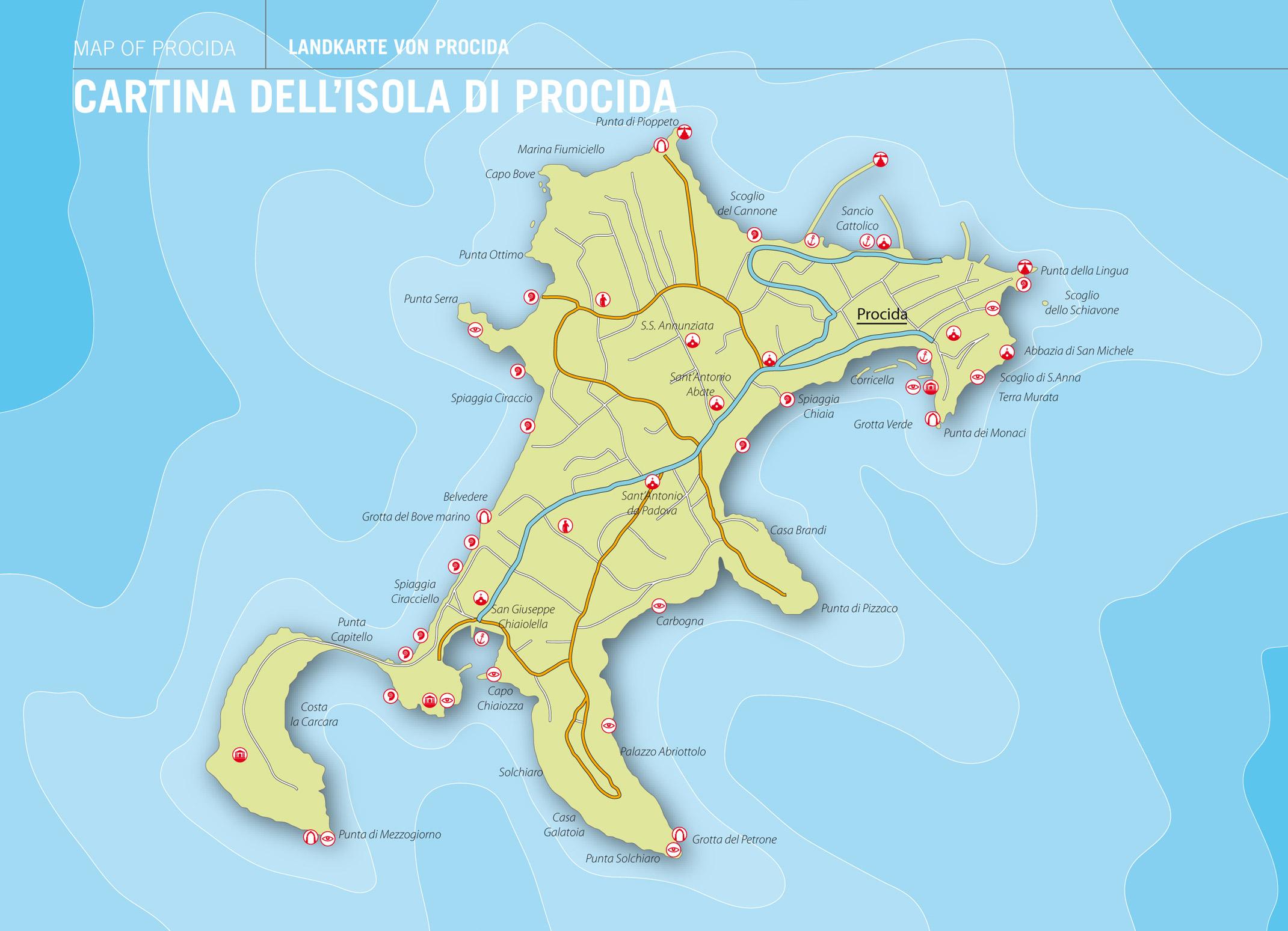 Map of - cartina-procida